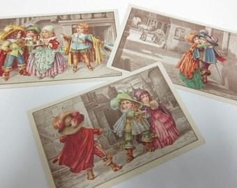 Bertiglia Renaissance children postcards