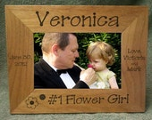 Custom Picture Frame,Flower Girl Picture Frame,Wood Picture Frame,Personalized Flower Girl Picture Frame 5 x 7