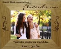 Personalized Best Friend Picture Frame 4 x 6 Landscape or Portrait Setting