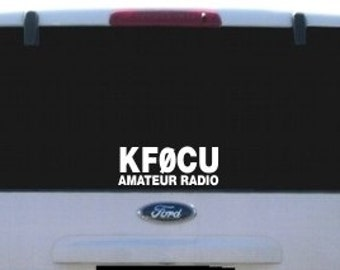 Amateur Radio Call Sign Vinyl Decal
