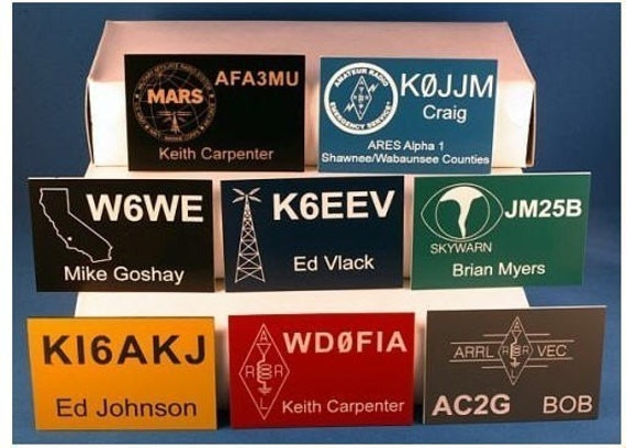 Ham Radio Call Sign Badges Amateur Radio HAM-1