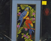 COUNTED CROSS STITCH KIT\/TROPICAL BIRDS
