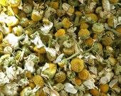 Organic Chamomile Flowers . One Ounce . Sweet Dreaming, Sleep, Purification, Abundance, Calming and Love Spells
