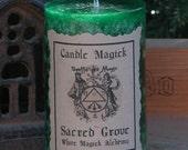 Sacred Grove Candle Magick . 2x3 Pillar . Celtic Magick, Spirit of the Greenman, Nature Spirits and Faeries