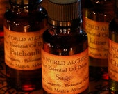 Sage Essential Oil . White Magick Alchemy Pure Essential Dilute . Clearing Negativity, Purification, Wisdom, Longevity