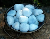 Blue Calcite Crystal Gemstone . For Doubling Spell Power, Enhanced Memory, Communication