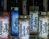 Sandalwood and Bourbon Vanilla Oil with Madagascar Bourbon Vanilla Beans . White Magick Alchemy Perfume Oil