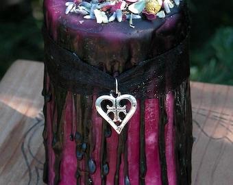 Hot Sugar Love Herbal Alchemy Magick Candle 2x3 . Sugar, Amber, Lavender, Rose, Chamomile
