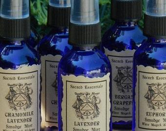 Lavender . Sacred Essentials Smudge Mist Spray 1oz . Purification of Sacred Space, Peace