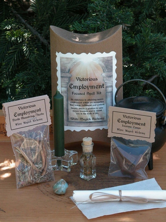 Victorious Employment Focused Spell Kit . Job Interviews, Secure Employment, Fulfillment, Ease Financial Tensions