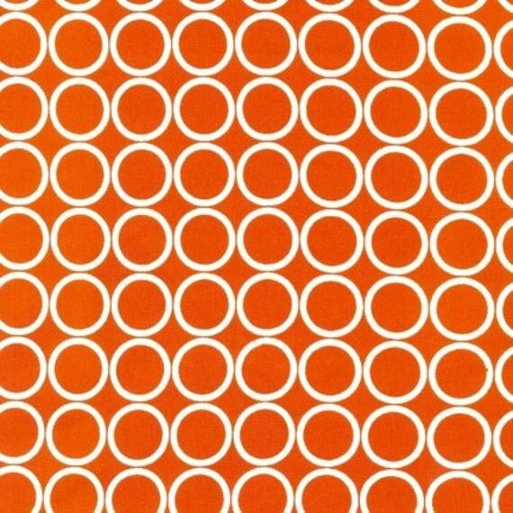 Robert Kaufman Metro Living Circles in Orange, 1 yard