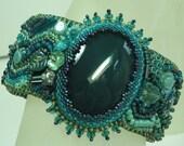 Green Agate Mystery Cuff