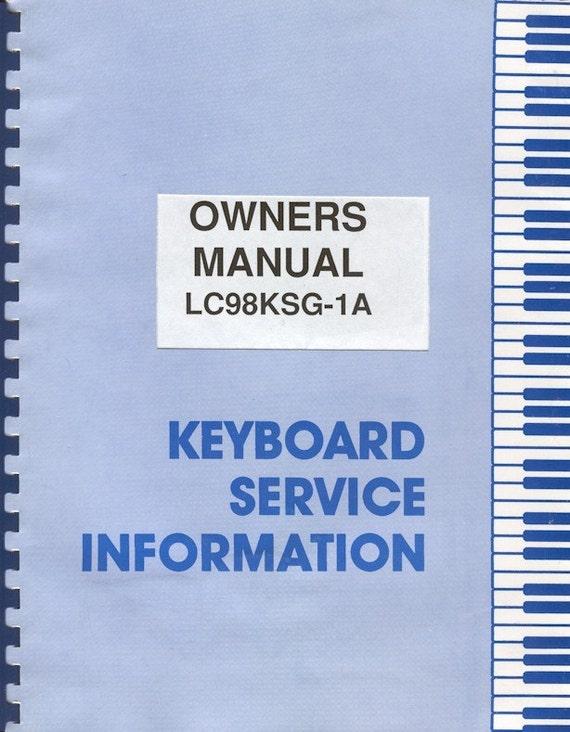 vintage lowrey lc98ksg 1a venus with genie key by lowrey carnival organ owners manual Lowrey Genie Organ Manual