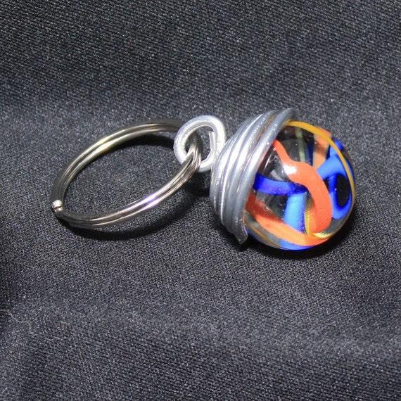 Marble Key Chain Keychain Key ring Key holder Swirl