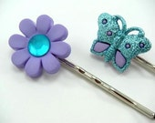SALE - LAVENDER SPRING Hair Bobby Pins - STORE CLOSING SALE - WAS 4 NOW 3