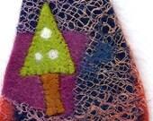 Textile felted christmas card