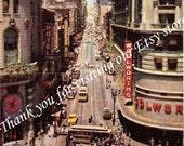 Old Postcard Powell & Market Streets, San Francisco, California
