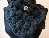 Cowl Wrap in Charcoal