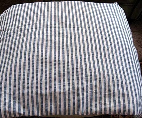 Vintage Ll Bean Cotton Comforter Duvet Cover Slate Blue And