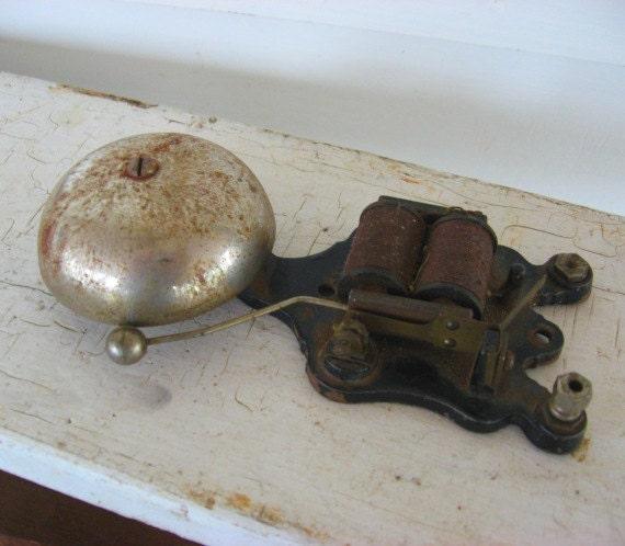 Antique 1890's Vintage Bell w Ringer Piece, Desk Weight, Wall Decor, Gadget, Victorian