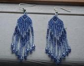 CLEARANCE  Southwest Style Blue Beadwork Earrings