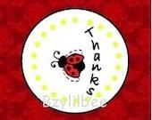 DIY Printable Ladybug Party Favor Tags