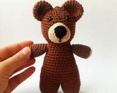 last one amigurumi brown teddy bear - ooak