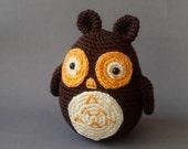 owl toy woodland plush autumn halloween