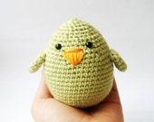 easter basket stocking spring green  chick