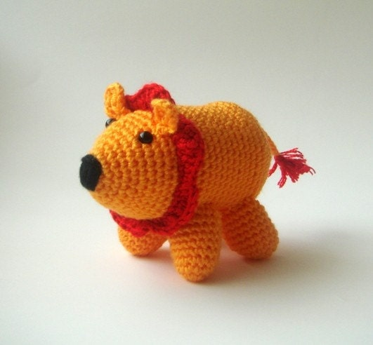 Little Amigurumi Lion : Amigurumi little lion by sabahnur on Etsy