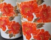 Vintage Japanese Flower Mug set
