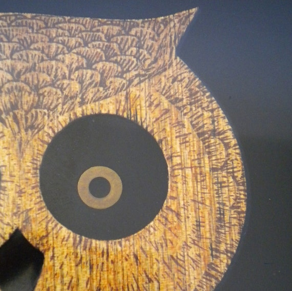 Vintage Couroc Night Owl Tray