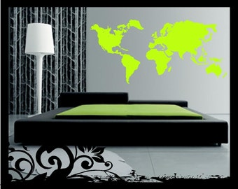 5' Continents Silhouette - Vinyl Decal
