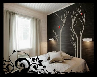 Set of 5 -  Dried Trees - Vinyl Decal