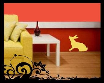 Bunny Rabbit Silhouette - Vinyl Decal