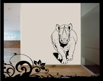 Charging Rhino -  Vinyl Decal
