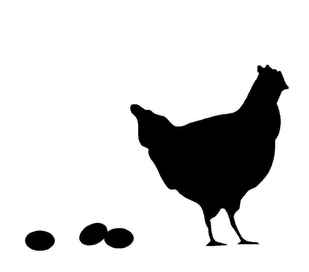 sale black hen with eggs silhouette vinyl decal