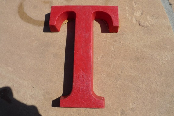 """6.5"""" RED Industrial Letter    """"T"""""""