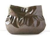 Brown Vegan Leather Clutch - Made to Order