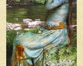 ZNE Bookmark- Ophellia in Nature- Digital Collage Art by ruby