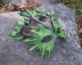 Sculptural Leather Dryad Mask