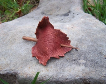 Red Sycamore Leaf Hair Cup