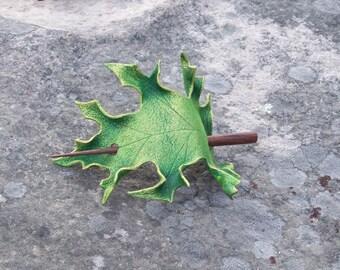 Green Oak Leaf Hair cup