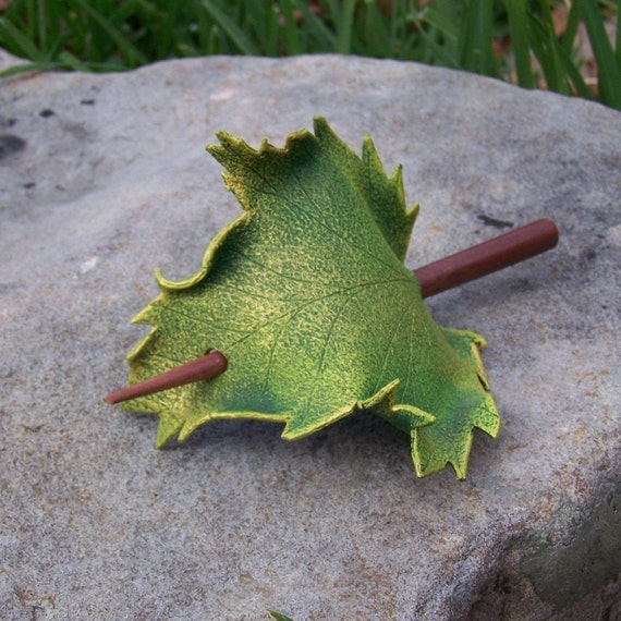 Green Sycamore  Leaf Hair Cup