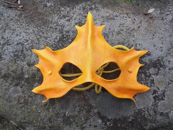 Yellow Maple Leaf Mask