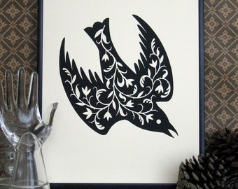 The Fancy Bird Print (black)