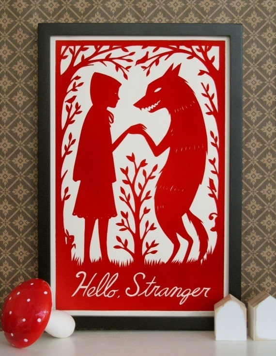 Hello Stranger Screenprint