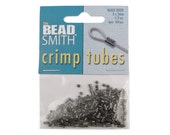 Gunmetal Crimp Bead - 400 Gun Metal Plated 2mm x 2mm Crimp Tube Beads FSGM105