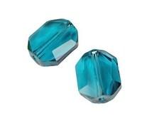 12mm INDICOLITE Graphic Beads - Article 5520 Swarovski Beads - Dark Teal Peacock Blue Beads
