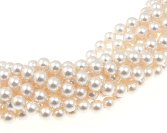 100 CREAMROSE 5mm Swarovski Pearl Beads - Article 5810 5mm Pearls Crystal Pearl Beads Cream Rose Swarovski Beads Blush Pearls